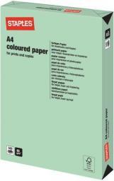 Papier Staples Papier kolorowy PASTEL COLOURS A4 80G, zielony/green, ryza 500 arkuszy (7419299)