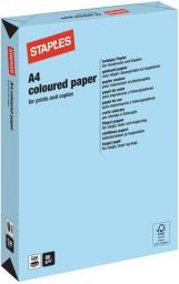 Papier Staples Papier kolorowy TREND COLOURS A4, 80G, średni niebieski/medium blue, ryza 500 arkuszy (7419849)