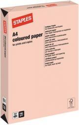 Papier Staples Papier kolorowy PASTEL COLOURS A4 160G, łososiowy/salmon, ryza 250 arkuszy