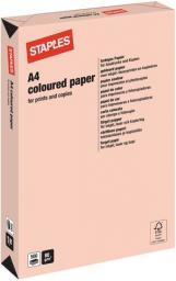 Papier Staples Papier kolorowy PASTEL COLOURS A 80G, łososiowy/salmon, ryza 500 arkuszy (7494213)