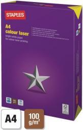 Papier Staples COLOUR LASER A4 100g, ryza 500 arkuszy (C72644)