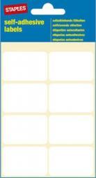 Staples STAPLES Etykiety samoprzylepne, 26mm x 40mm, biały, opakowanie 7 arkuszy