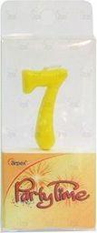 Arpex Świeczka Party Time nr 7 żółta (DS5373-7)