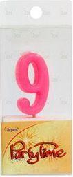 Arpex Świeczki Party Time nr 9 różowa (DS5373-9)