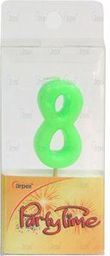 Arpex Świeczka Party Time nr 8 zielona (DS5373-8)