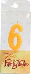 Arpex Świeczki Party Time nr 6 żółta (DS5373-6)