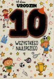 PASSION CARDS Karnet 10 urodziny chłopca