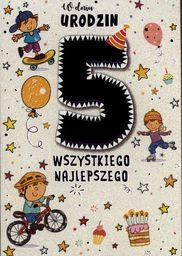 PASSION CARDS Karnet 5 urodziny chłopca