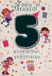 PASSION CARDS Karnet 5 urodziny dziewczynki PR-024