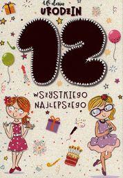 PASSION CARDS Karnet 12 urodziny dziewczynki