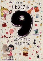 PASSION CARDS Karnet 9 urodziny dziewczynki
