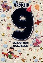 PASSION CARDS Karnet 9 urodziny chłopca