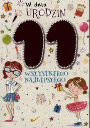 PASSION CARDS Karnet 11 urodziny dziewczynki
