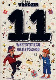 PASSION CARDS Karnet 11 urodziny chłopca