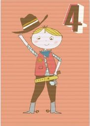 Museums & Galleries Karnet B6 z kopertą Urodziny 4 chłopiec