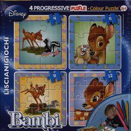 Lisciani Puzzle Dwustronne Baby Plus 4w1 Bambi