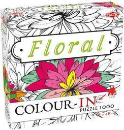 Tactic Puzzle Color-In Floral 1000 elementów