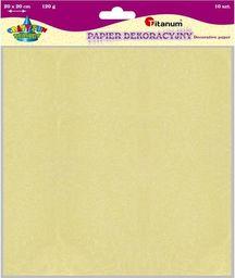 Titanum Papier dekoracyjny 10 szt. 120g. beżowy 20x20cm (20657)