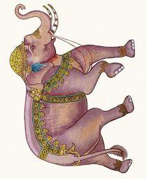 Museums & Galleries Karnet 17x14cm z kopertą Royal elephant