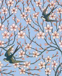Museums & Galleries Karnet 17x14cm z kopertą Almond Blossom and Swallo