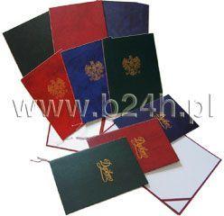Warta Okładka na dyplom bez napisów czarna 1824-339-048