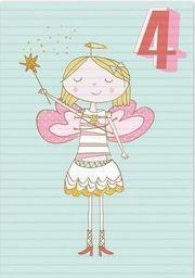 Museums & Galleries Karnet B6 z kopertą Urodziny 4 dziewczynka