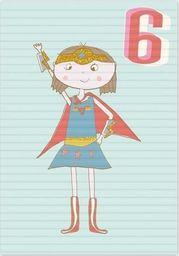 Museums & Galleries Karnet B6 z kopertą Urodziny 6 dziewczynka