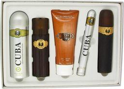 Cuba Cuba Gold for Men 100ml woda toaletowa + 100ml woda po goleniu + 35ml woda toaletowa + 200ml dezodorant spray [M] ZESTAW