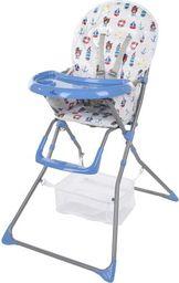 FUN BABY Krzesełko do karmienia dzieci, rozkładane - Basic- marine