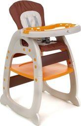 FUN BABY Krzesełko do karmienia dzieci 3 w 1 - brązowe