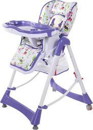 FUN BABY Krzesełko do karmienia dzieci PRIMA, składane, fioletowe