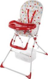 FUN BABY Krzesełko do karmienia dzieci, rozkładane - Basic- czerwone