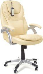 IMAGGIO Fotel biurowy TAVANO z masażem - beżowy