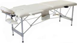 PROFIBED Łóżko do masażu 2 segmentowe aluminiowe o szerokości 70 cm, beżowe