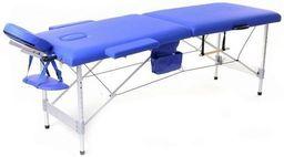 PROFIBED Łóżko do masażu 2 segmentowe aluminiowe o szerokości 70 cm, niebieskie
