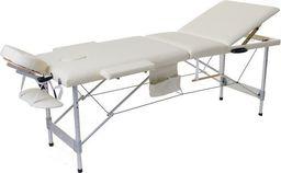 PROFIBED Łóżko do masażu 3 segmentowe aluminiowe o szerokości 70 cm, beżowe
