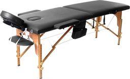 PROFIBED Łóżko do masażu 2 segmentowe drewniane o szerokości 70 cm, czarne
