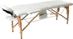PROFIBED Łóżko do masażu 2 segmentowe drewniane o szerokości 70 cm, beżowe