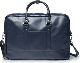 Torba Solier Granatowa elegancka torba na laptopa Solier NORMAN