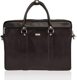 Torba Solier Skórzana torba na ramię laptopa Solier MARCEL
