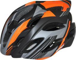 Axer Kask rowerowy Dexx czarno-pomarańczowy r. L (A25277-L)