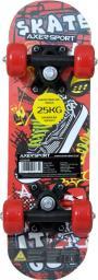 Deskorolka Axer Sport dla dzieci 17' 43X13 cm czerwona (A26649)