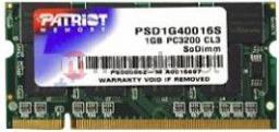 Pamięć do laptopa Patriot DDR 1GB SODIMM 400MHz CL3 (PSD1G40016S)