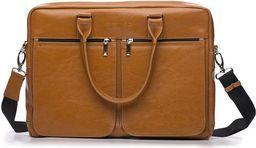 Torba Solier Męska torba ze skóry na ramię, laptopa ROYAL camel