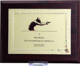 Victoria Sport Dyplom z tworzywa sztucznego z metalową blaszką grawerowany