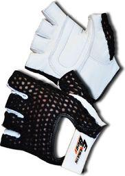 Victoria Sport rękawice treningowe skórzane EB Fit czarno-szare r. S