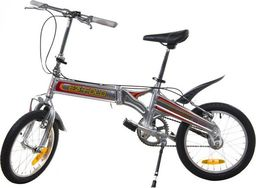 Victoria Sport Rower miejskie składak 16'' srebrny