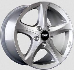 CMS C12 High Gloss Silver 8x18 5x130 ET57