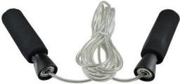 PROfit Skakanka ze stalową linką Speed Dk 1024 czarno-srebrna (S1338)