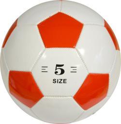 ENERO  Piłka nożna biedronka biało-czerwona